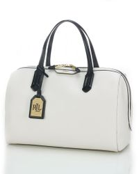 Lauren by Ralph Lauren Tate Leather Barrel Satchel - Lyst