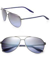 Barton Perreira Hawkeye Square Metal  Acetate Aviator Sunglasses - Lyst