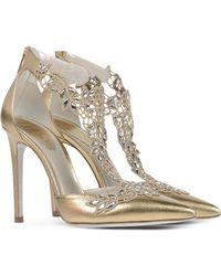 Rene Caovilla Closed-Toe Slip-Ons gold - Lyst