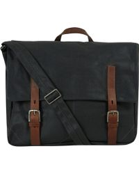 Ally Capellino - Black Ben Canvas Briefcase - Lyst