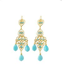 Jose & Maria Barrera Turquoise Chandelier Drop Earrings teal - Lyst