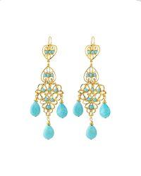 Jose & Maria Barrera Turquoise Chandelier Drop Earrings - Lyst