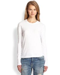 James Perse Cotton Jersey Long-Sleeved Tee - Lyst