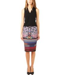 Clover Canyon Stained Glass Pencil Skirt - Lyst