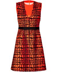 Roksanda Ilincic Patterned Cocktail Dress - Lyst
