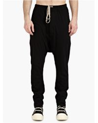 DRKSHDW by Rick Owens Men'S Black Drawstring Trousers - Lyst