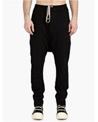 DRKSHDW by Rick Owens Men'S Black Drawstring Trousers black - Lyst