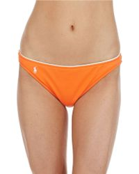 Ralph Lauren Blue Label Summer Classics Hipster Swim Bottom - Lyst