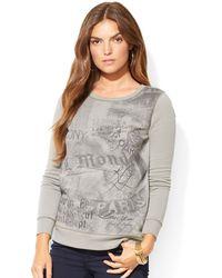 Lauren by Ralph Lauren Lauren Jeans Co Graphic Sweatshirt - Lyst