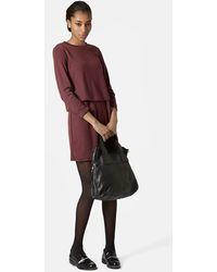 Topshop Overlay Dress - Lyst
