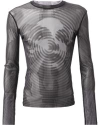 Jean Paul Gaultier Printed Sheer T-Shirt - Lyst