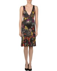 John Galliano Short Dress - Lyst