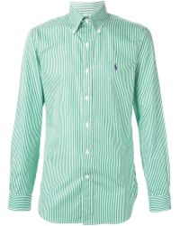 Polo Ralph Lauren Green Striped Shirt - Lyst