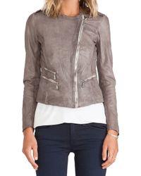 Doma Gray Moto Jacket - Lyst