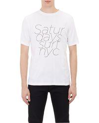 Saturdays Surf Nyc White T-shirt - Lyst
