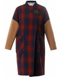 Band of Outsiders Blanket Wool Coat - Lyst