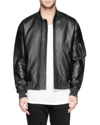 McQ by Alexander McQueen Leather Bomber Jacket - Lyst