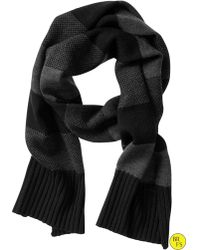 Banana Republic Factory Rugby Stripe Scarf black - Lyst