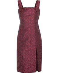 Title A - Jennifer Satin-Jacquard Dress - Lyst