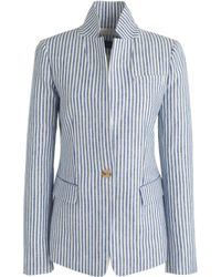 J.Crew Petite Regent Blazer In Striped Linen - Lyst