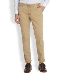 J.Lindeberg Chaze Slim-Fit Cotton Pants - Lyst