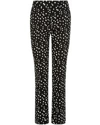 Reiss Olivia Spot Printed Trousers - Lyst