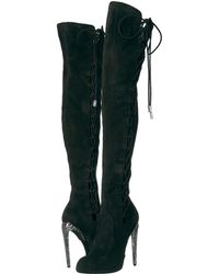 ae2842c79019 Lyst - Christian Louboutin Black Perforated Leather  jennifer 120 ...