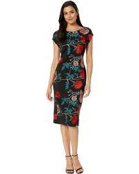 52b925d5 Eci - Floral Embroidered Cap Sleeve Sheath Dress - Lyst