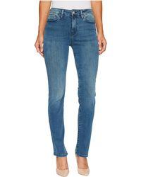 Mavi Jeans - Kendra High-rise Straight In Light Foggy Blue Tribeca - Lyst