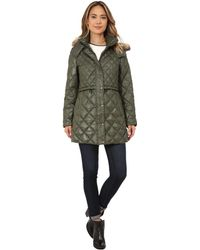 "Marc New York - Kava 32"" Diamond Quilted Down W/ Faux Fur Hood - Lyst"