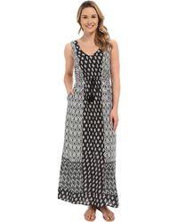 Lucky Brand - Woodblock Mixed Dress - Lyst