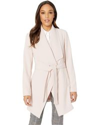 Tahari - Shawl Collar Wrap Coat - Lyst