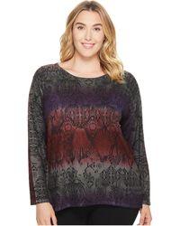 Nally & Millie - Plus Size Print Sweater Tunic - Lyst