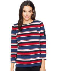 31eb49ea0ef Chaps - Lightweight Stripe Cotton Jersey 3 4 Knit - Lyst