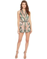 769aca6ed4e Nicole Miller - La Plage By Tropical Peacock Silk Cover-up Romper - Lyst