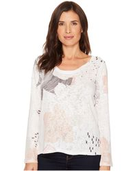 Nally & Millie - Peach Print Top - Lyst