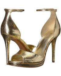 f042aaf39e6 Lyst - Michael michael kors Margy Open Toe Leather Platform Heel in ...