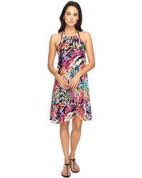 Nicole Miller - La Plage By Tropical Palms Halter Dress Cover-up - Lyst