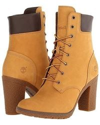 Timberland - Earthkeepers(r) Glancy 6 Boot (wheat Nubuck) Dress Lace-up Boots - Lyst