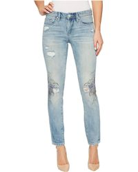 Blank NYC - Floral Detail Distressed Skinny In Going Digital - Lyst