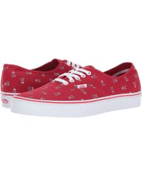 962823a23a78 Lyst - Vans Unisex Authentic (mlb) Dodgers Skate Shoe in Blue