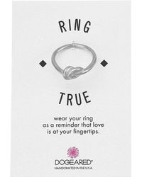 Dogeared - Large Love Knot Ring - Lyst