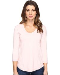 Mod-o-doc - Classic Jersey Seamed V-neck Tee - Lyst