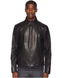 John Varvatos - Zip Front Jacket W/ Fabric Collar L577u3 - Lyst