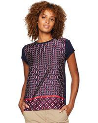 Lauren by Ralph Lauren - Geometric-print T-shirt - Lyst