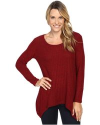 Nally & Millie - Ribbed Brushed Sweater Tunic - Lyst