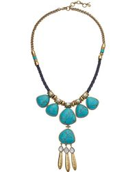 Lucky Brand - Turquoise Statement Necklace - Lyst