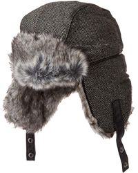 ab13001088c40 Lyst - Woolrich Faux Fur Plaid Trooper Hat in Red for Men