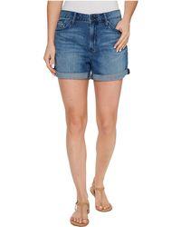 Calvin Klein Jeans - Whisper Weight Boyfriend Shorts In Blue Lagoon - Lyst