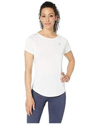 d4966060e15ca New Balance Accelerate Short Sleeve Top V2 (white) Short Sleeve Pullover